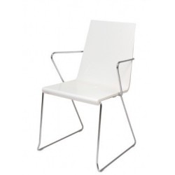 Chaise de bureau design avec accoudoir SNAKE blanc