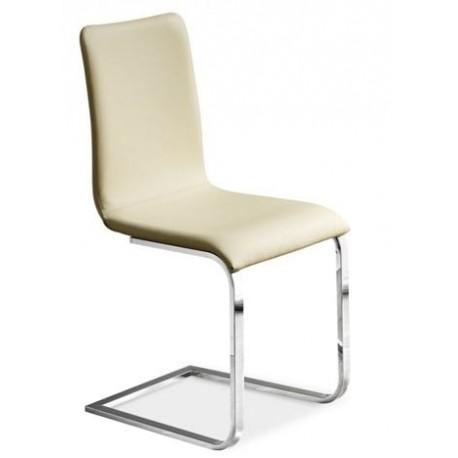 chaise cuir design ADELE beige