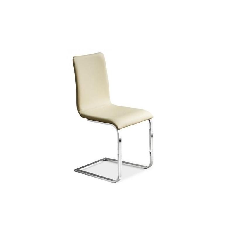 Chaise cuir design adele et chaises en cuir design italien midj chaises sall - Chaise en cuir beige ...