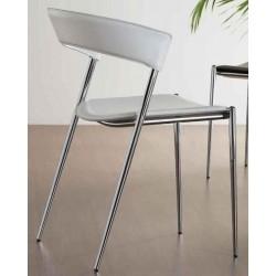 Chaise en cuir blanc IMOLA