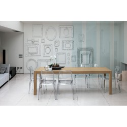 Table design bois URANO