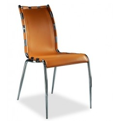 Chaise cuir design GAIA par Airnova.