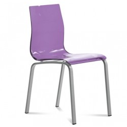Chaise transparente design GEL R.