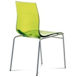 Chaise plastique design GEL B par Domitalia.