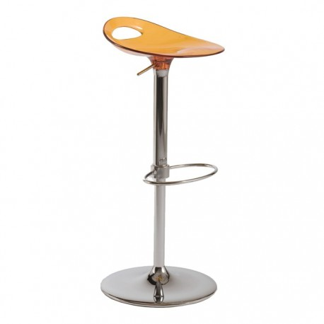 Tabouret haut design SAMBA orange