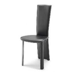 Chaise cuir noir GRENOBLE