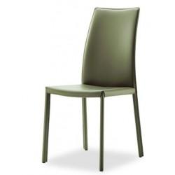 Chaise moderne en cuir MARSEILLE.