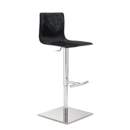 excellent tabouret de bar rglable en cuir design paris. Black Bedroom Furniture Sets. Home Design Ideas