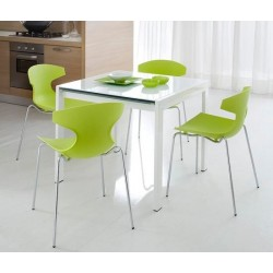 Chaise design polypropylène ECHO vert