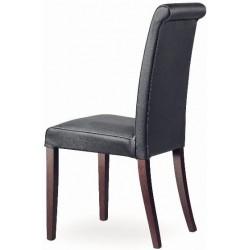 Chaise de salle a manger en cuir et bois MARION R