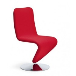 Chaise cuir design F12 rouge