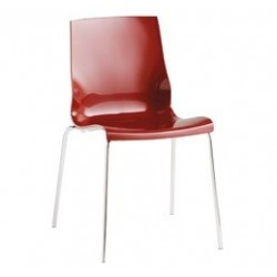 Chaise design rouge ISI 4 par Softline.