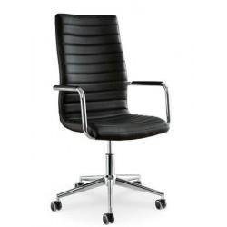 Chaise de bureau en cuir ISTAR