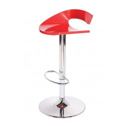 Tabouret reglable rouge
