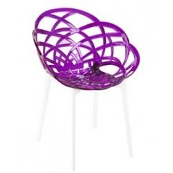 Chaise design FLORA transparente par PAPATYA.