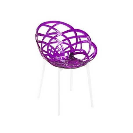 Chaise design flora par papatya plastique transparent for Chaise en verre transparente