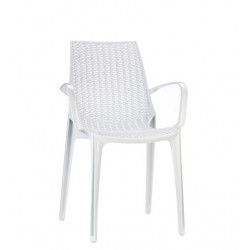 Chaise design transparente avec accoudoirs TRICOT