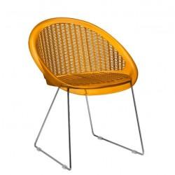 Chaise design SAINT-TROPEZ pieds luge