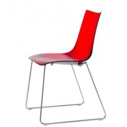 Chaise design pieds luges ZEBRA