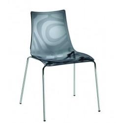 Chaise design original ZEBRA 4 pieds
