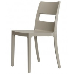 Chaise pas cher design SAI taupe.