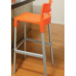 Tabouret design 65 cm DIVO orange.