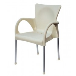Chaise en résine empilable BEVERLY beige