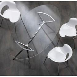 Table design en verre METROPOLIS.