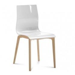 Chaise design pieds bois GEL L.