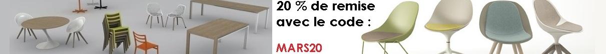 Code promotion de 20% sur www.tables-et-chaises.fr