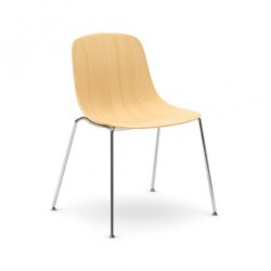 Chaise design PURE LOOP 3D WOOD 4 LEGS.