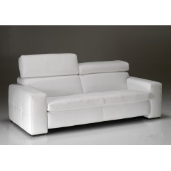 Canapé cuir contemporain KYOTO design Italien 2 places blanc