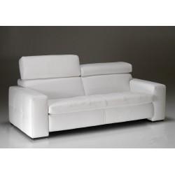 Canapé cuir contemporain KYOTO design Italien 2 places blanc