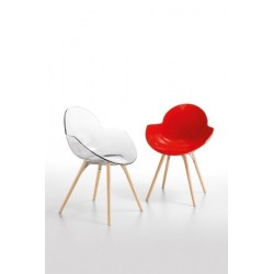 Chaises design COOKIE WOODEN.