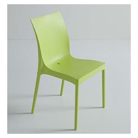 Chaise design iris et chaise plastique design par gaber for Chaise en plastique design