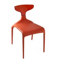 Chaise design plastique PUNK rouge