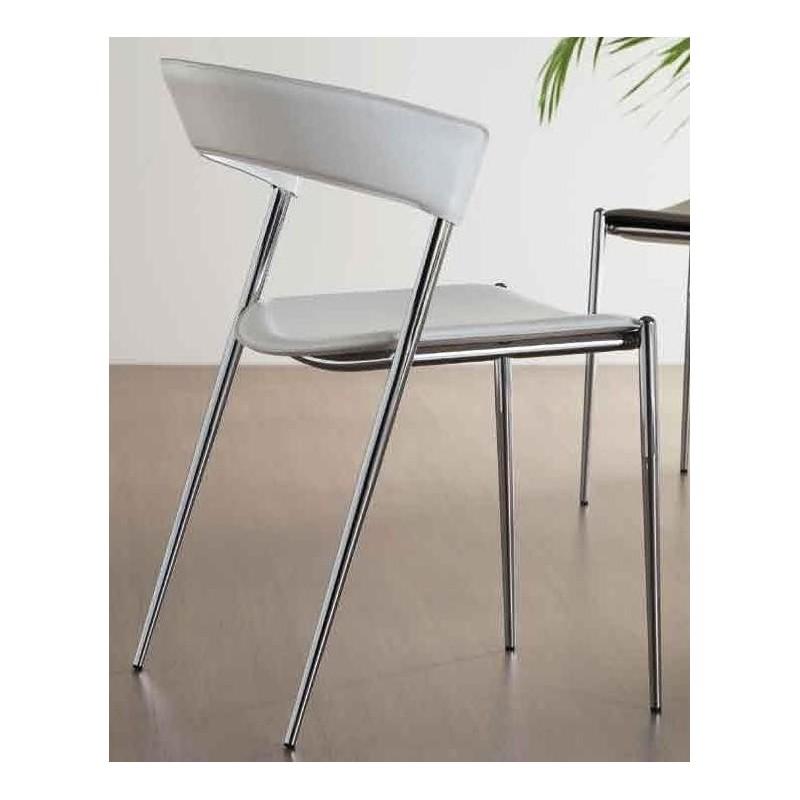 chaise cuir blanc imola et chaises en cuir blanche design par midj. Black Bedroom Furniture Sets. Home Design Ideas