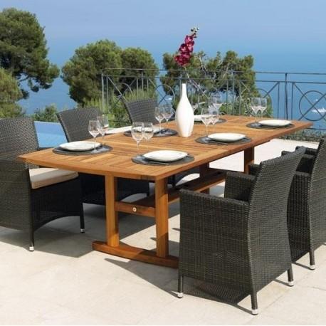 Table En A De Jardin Rallonge Huillé Vlaemynck Teck Par Et nvN0wm8