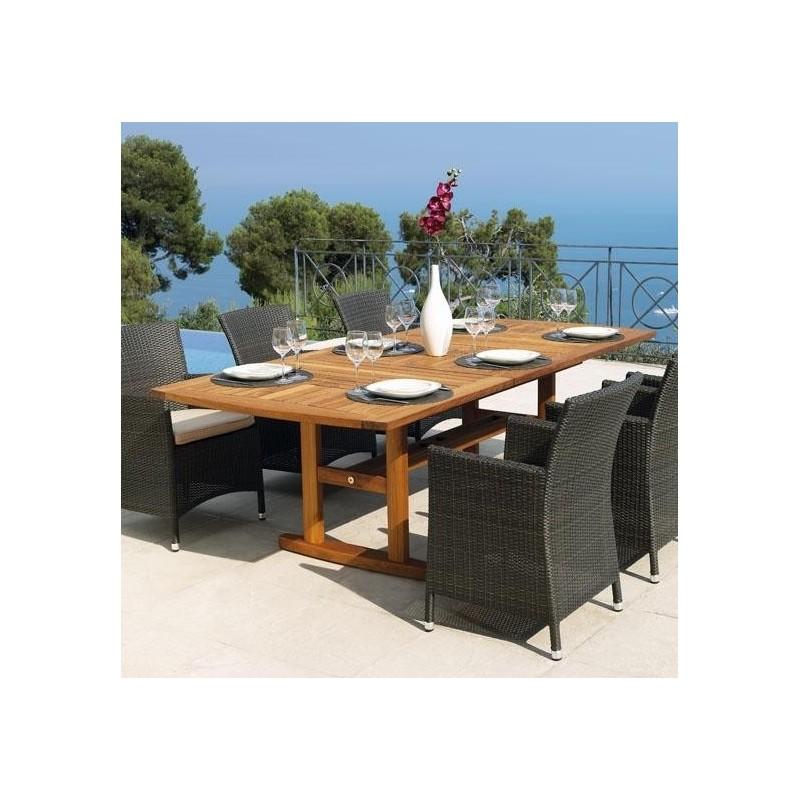 Table en teck de jardin et table de jardin en teck huill for Bar en teck de jardin