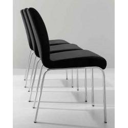 Chaise contemporaine cuir STONE Noir