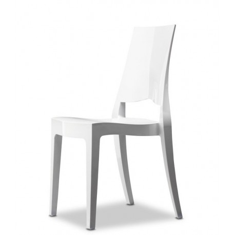 Chaise blanche GLENDA par SCAB