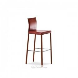 Destockage tabouret bar cuir marron FLONA contemporain par midj.