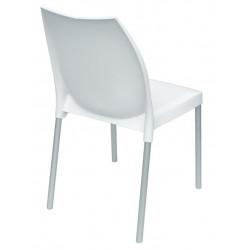 Chaise blanche en plastique TULIP