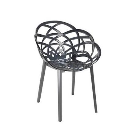 Chaise plastque fumé