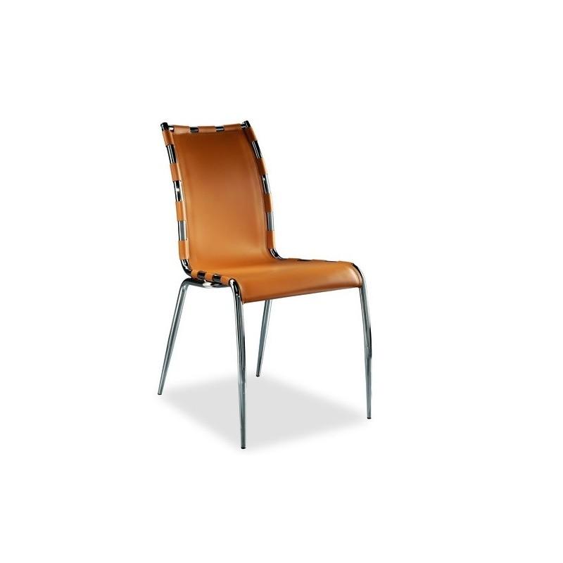 Chaise cuir gaia et chaise cuir design gaia par airnova for Chaise en cuir design