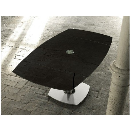 Table Design En Verre Et Table Design Avec Allonges En Verre Eda Concept
