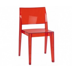 Chaise rouge polycarbonate GYZA