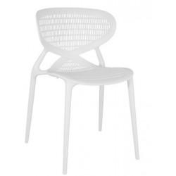 Chaise jardin en plastique ANGEL blanche.