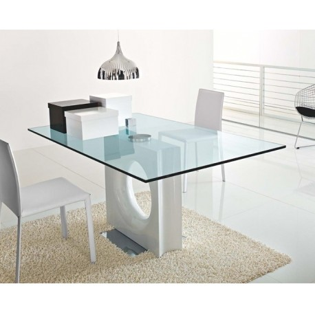 table en verre design maxime et table verre transparente. Black Bedroom Furniture Sets. Home Design Ideas