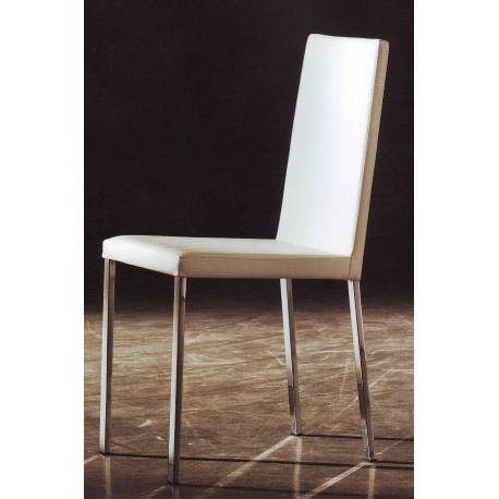 Chaise en cuir et métal REIMS